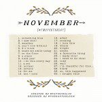 November Photo A Day 2014: See the list, join the challenge