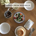 Dinner idea: French onion meatballs