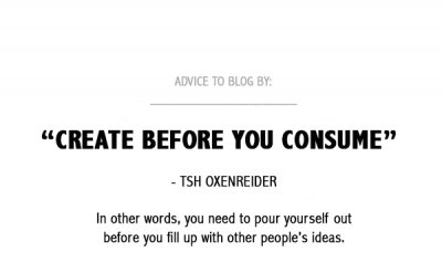 Blogging advice from Tsh Oxenreider