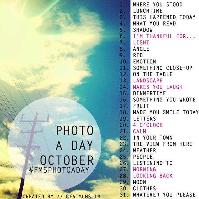 October-photo-a-day-list