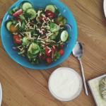 Jamie Oliver's Modern Greek Salad with Spinach & Feta Parcels