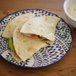 Mid-week meal: Mexican chicken tortillas with sour cream dip