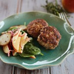 $10 dinner: Beef & pork rissoles with jazz apple salad