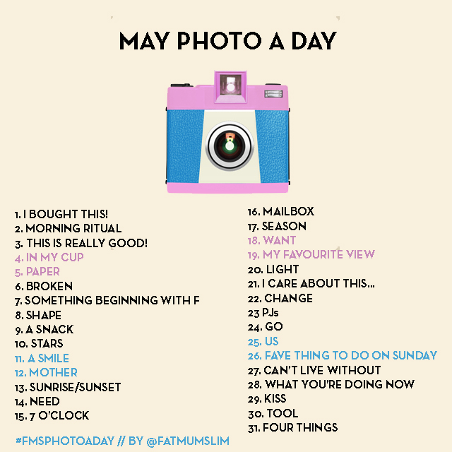 May photo a day list