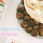 Finger food: Spicy meatballs with garlic mayo dipping sauce