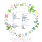 October Photo A Day Challenge: See the list. Get the prompts. Get excited. All that.