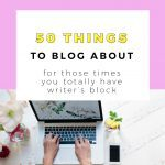 Sweet ideas: 50 things to blog about