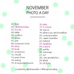 November Photo A Day: See the new list and get excited!