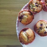 Brunch with friends: Raspberry & white chocolate muffins