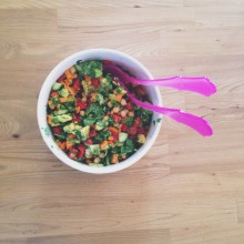 Chopped salad: The one where you empty your crisper and chop it up