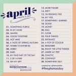 April 2014 Photo A Day List: Challenge yourself to some fun