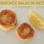 In the Thermomix: Salmon rissoles, love.