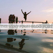 Bloggy-type help: Writing your first blog post