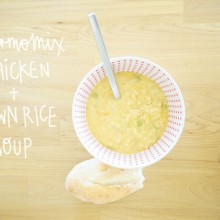 In the Thermomix: Quirky Cooking's Creamy Chicken & Brown Rice Soup