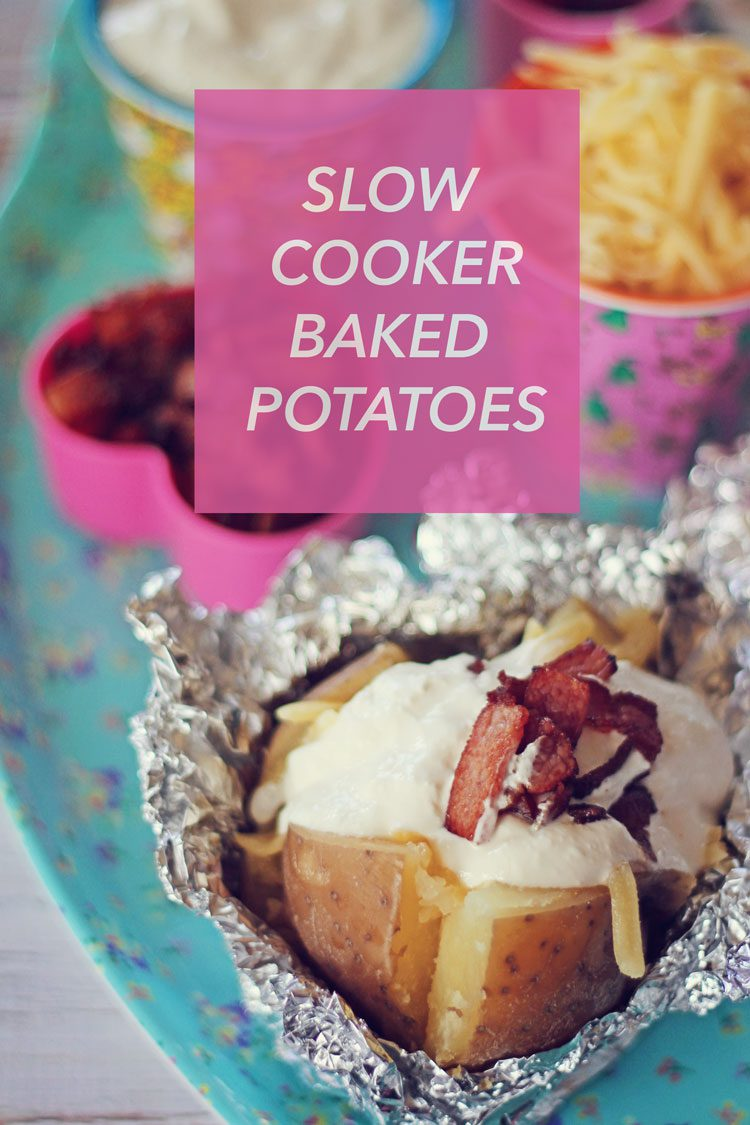 Slow-cooker baked potatoes | Easy dinner idea