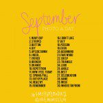 September Photo A Day List 2014 | The list created by the community