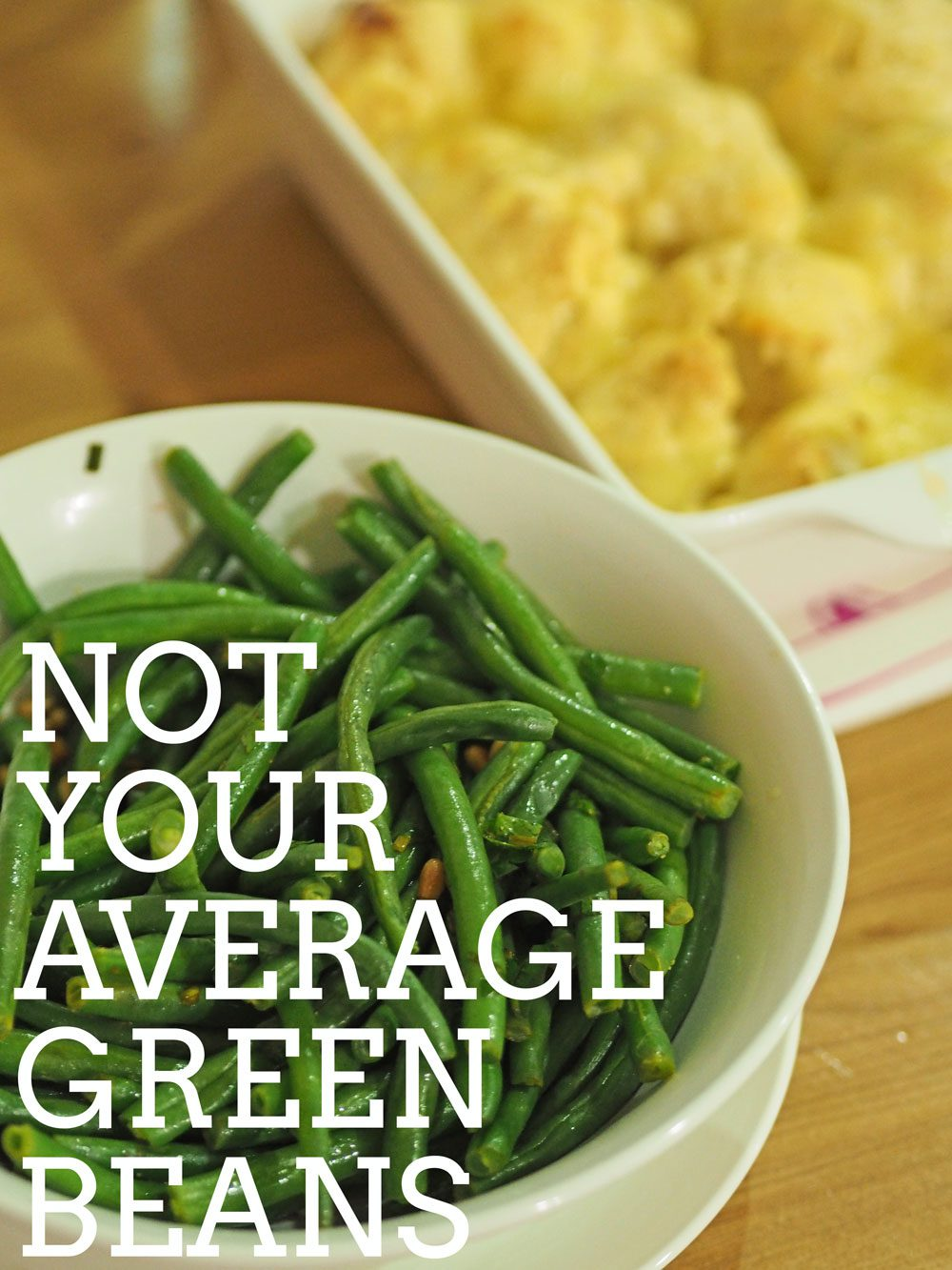 Delicious green beans with lemon and herbs