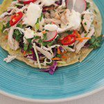 20 minute dinner: Chicken and coleslaw tostada