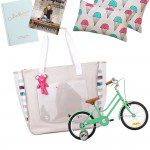 January giveaway: A bike, a bag, books and beautiful linen. Yay!