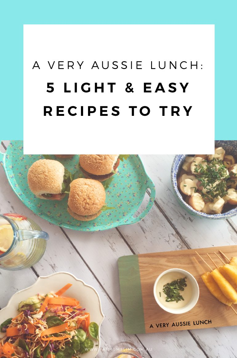 A very Aussie lunch: 5 light & easy recipes you can whip up for friends to enjoy!