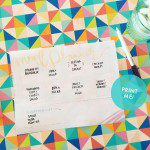 FREE printable: Meal planner
