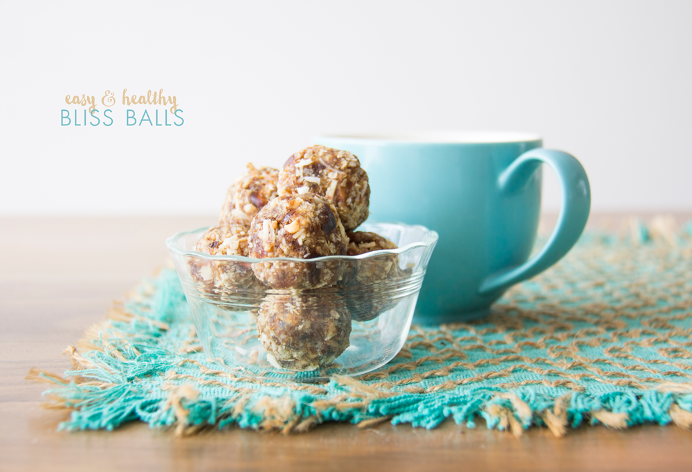 4 ingredient bliss balls : healthy & easy
