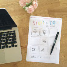 February Printable: The cutest to-do list ever