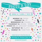 Photo A Day: Here's the challenge list for week 16!