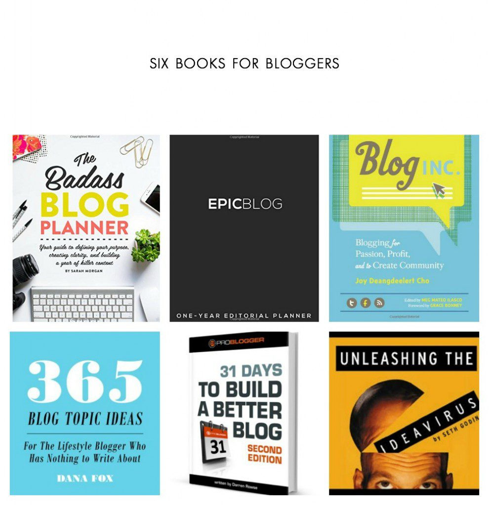 Blog Books: 6 books you need to read to grow your blog