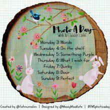 Photo A Day Challenge 2015 // Week 32