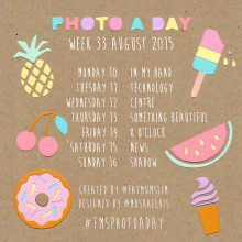 Photo A Day Challenge 2015 // Week 33