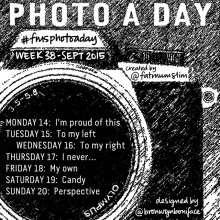 Photo A Day Challenge 2015 // Week 38