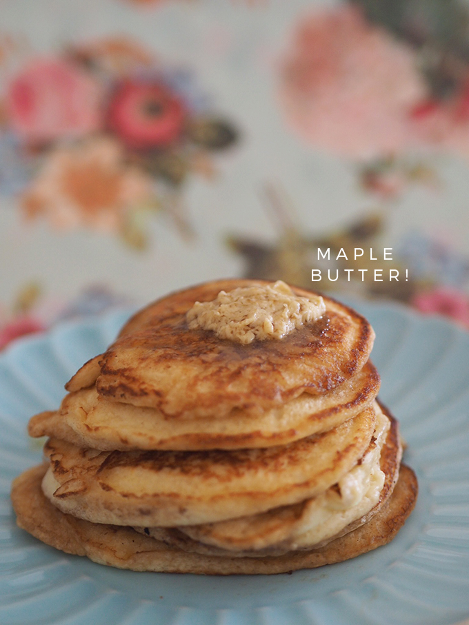 Donna Hay's Ricotta Hotcakes with Maple Butter - Fat Mum Slim