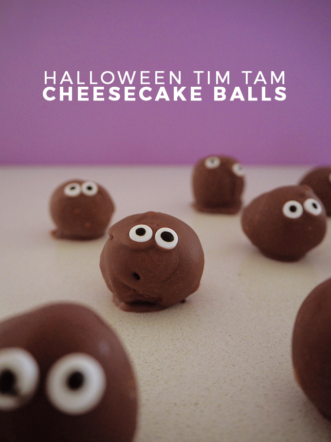 Halloween Tim Tam Cheesecake Balls