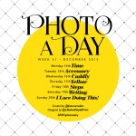 Photo A Day Challenge 2015 // Week 51