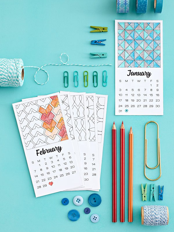 Nine awesome free 2016 printable calendars