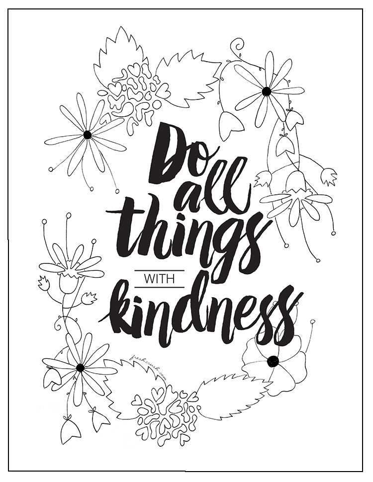 Kindness Begins at Home... A Coloring Page and a Message | Bunny ... | 970x750