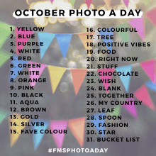 October 2016 Photo A Day Challenge