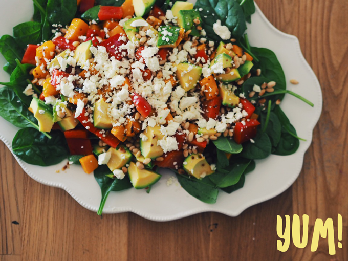 Pumpkin Salad with Maple Dressing