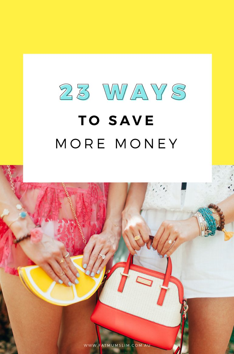 Don't we all need to save more money? Or have more money for shoes or good times? Here's 23 ways to save more of your hard-earned money. Number 6 is a game-changer!