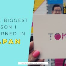 The biggest lesson I learned in Japan