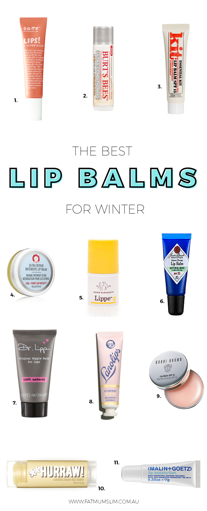 The best lip balms for your lips this winter! Our skin is the first to suffer when the weather turns cold and wintery, so here's the best lip balms to keep your lips totally kissable. Choose from cheap as chips, to a little bit more luxurious {PLUS the one product that I won't ever live without, year round}. Read more...