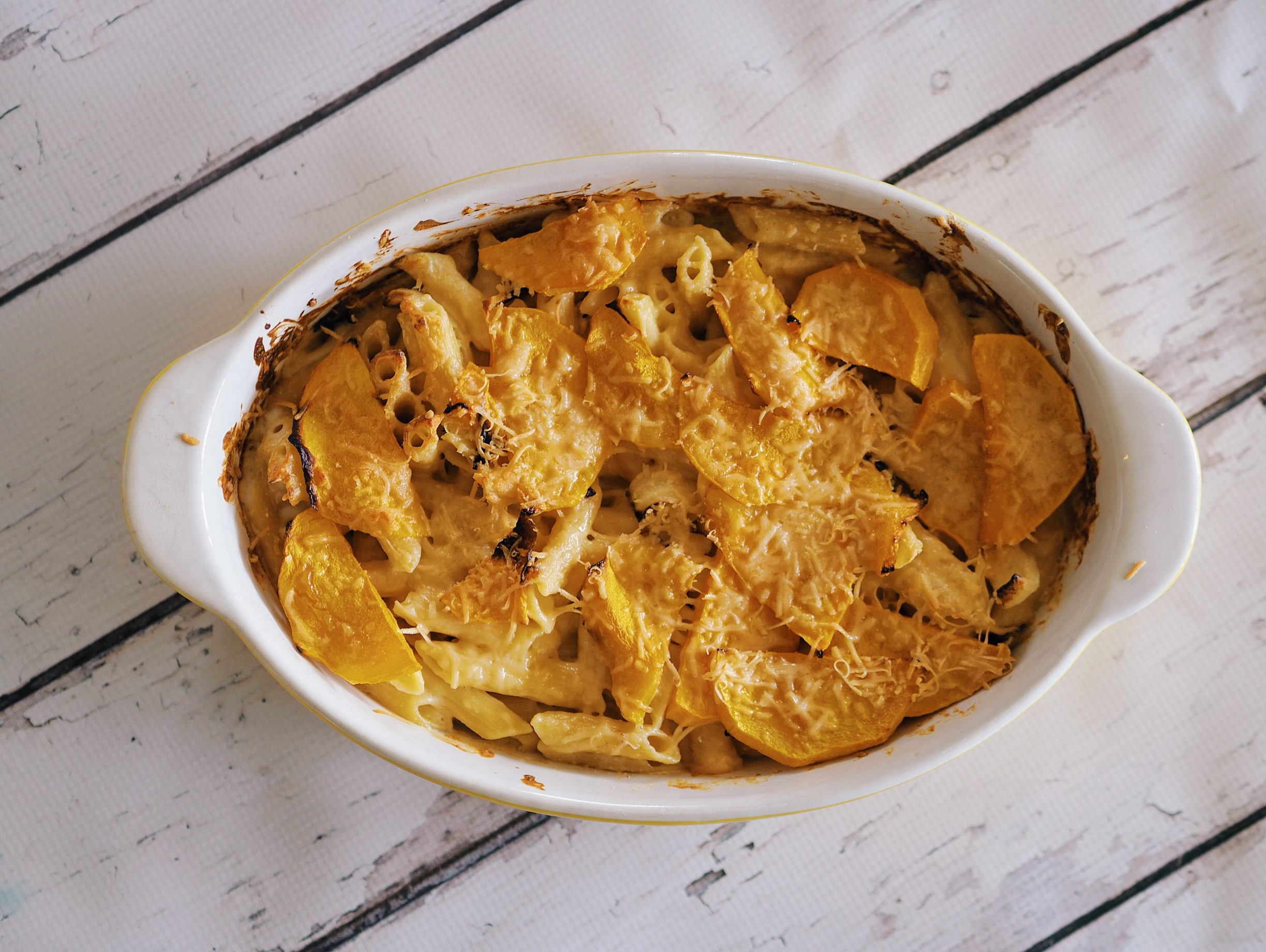 Pumpkin and Three Cheese Pasta Bake Recipe