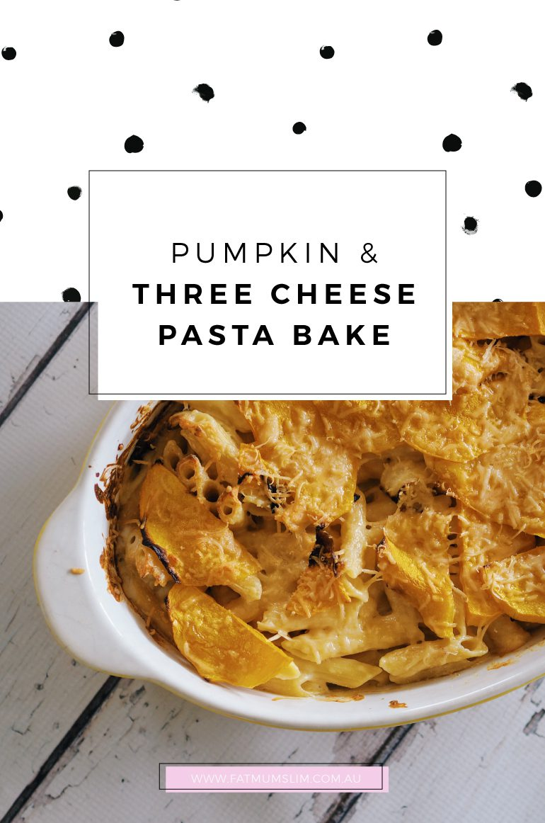 Holy cheeses! This is dinner tonight. Pumpkin and three cheese pasta bake. Yummo! Get the recipe here...