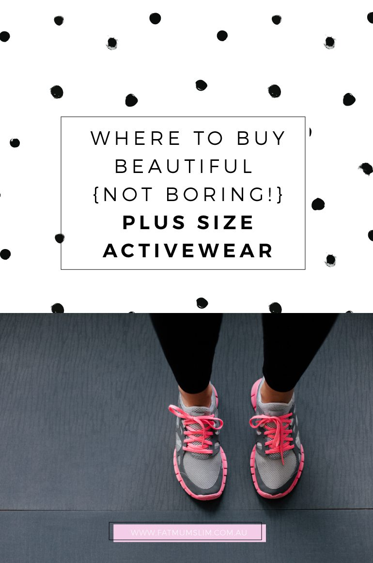 6b95bd3f6c Plus Size Activewear In Australia - Fat Mum Slim