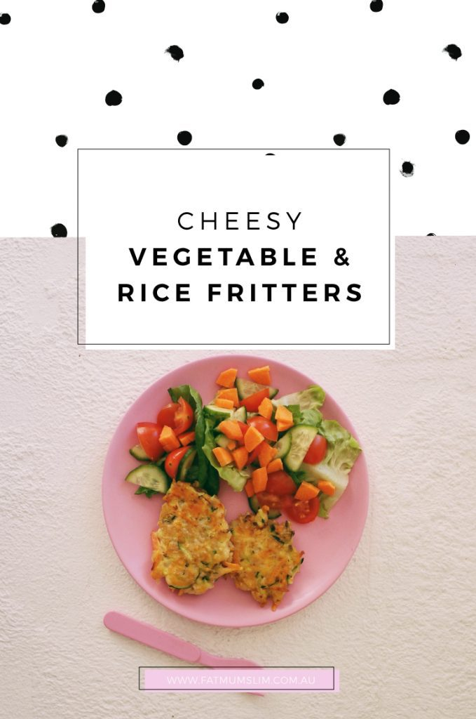 Cheesy Vegetable & Rice Fritters