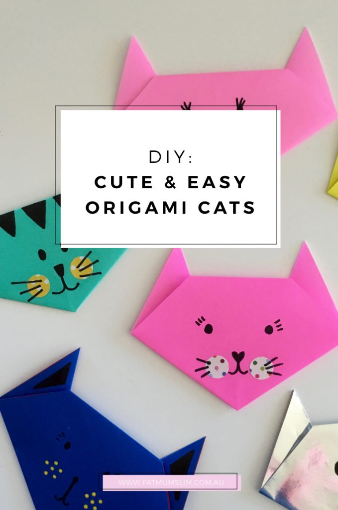 DIY: Easy and cute origami cats