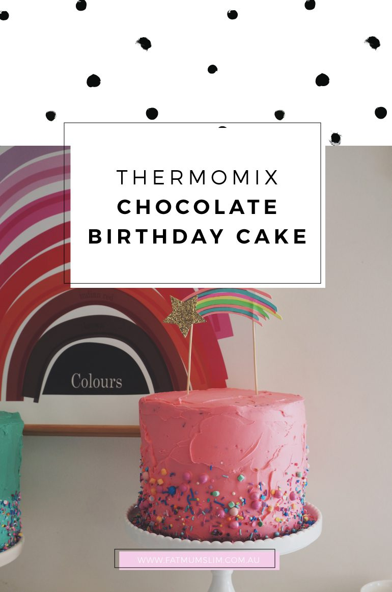 Thermomix Chocolate Birthday Cake