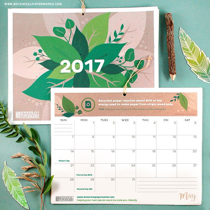 The Best Free 2017 Printable Calendars
