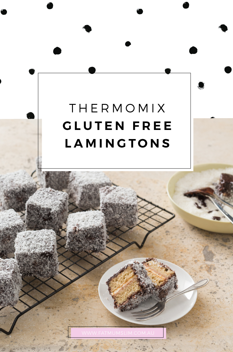 Yum! Thermomix Gluten Free Lamingtons Recipe